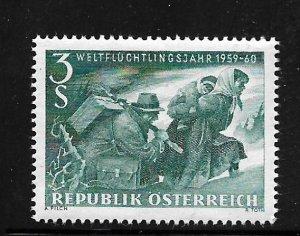 AUSTRIA, 650 , MNH, FAMILY FLEEING OVER MOUNTAINS