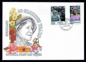 Swaziland 565-566 Queen Mother U/A FDC