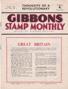 Gibbons Stamp Monthly April 1945 Very Good Condition No Tears All Pages