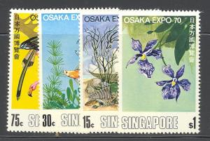 Singapore #112-15 Mint VF NH