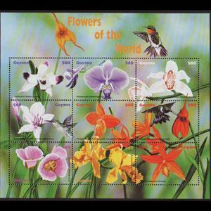 GUYANA 1999 - Scott# 3386 Sheet-Orchids NH