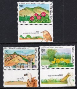 Israel 1052-1054 With Tabs MNH VF
