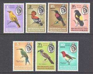 Bechuanaland Scott 180/186 - SG168/174, 1961 Birds to 10c MH*