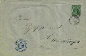 German Postal History Cover Wunttumburg Stamped Envelope