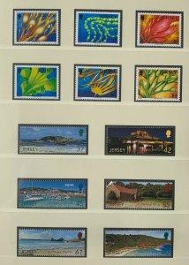 JE111) Jersey 2009 Marine Life Part VII (6) + Scenes Inc SEPAC (6) MUH