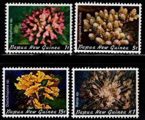 PNG Papua New Guinea Scott 566-569 MNH** coral stamp set