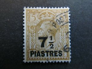 A4P9F11 Great Britain Offices in Turkish Empire 1921 7 1/2p on 5p used