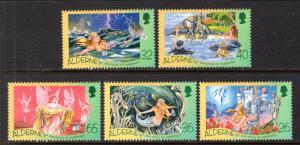 Alderney 245-249 The Little Mermaid MNH VF