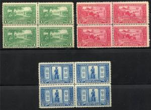 UNITED STATES SCOTT# 617-619 BLOCKS OF FOUR MINT NH/LH AS SHOWN