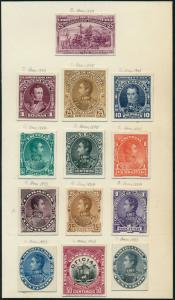 VENENZUELA #74P3//83P3;136P3,O5P3 COLUMBUS ABNCo PLATE PROOFS ON INDIA HV5311