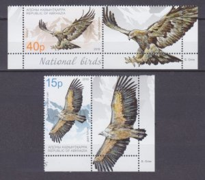 2019 Abkhazia Republic 1004-1005+Tab Birds of prey