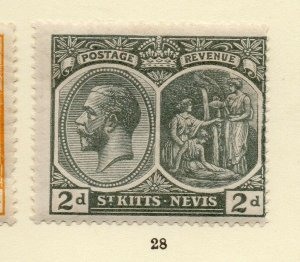 St Kitts Nevis 1920s Early Issue Fine Mint Hinged 2d. NW-170449