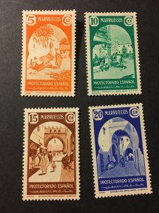 French Morocco sc 194-197 MHR