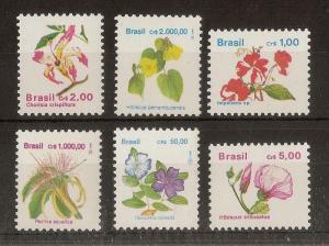 Brazil - Flowers MNH (6v)