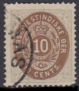 Danish West Indies 10 Used