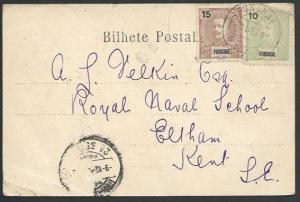 MADEIRA FUNCHAL 1902 postcard to UK........................................52971
