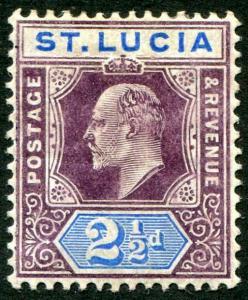 HERRICKSTAMP ST. LUCIA Sc.# 52 Mint Hinged Scott Retail $40.00