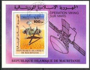 MAURITANIA 1977 VIKING MARS PROJECT Space Airmail Souvenir Sheet Sc C176 CTO