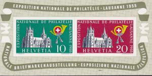 Switzerland 1955 Lausanne Expo. Souvenir Sheet VF/NH(**) Scott 352a
