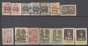 COLLECTION LOT OF # 933 CENTRAL LITHUANIA 14 STAMPS 1921 CV=$21