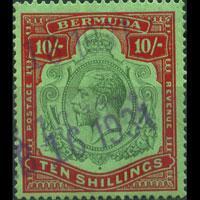 BERMUDA 1910 - Scott# 53 King 10s Used