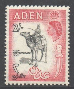 Aden Scott 57a - SG66, 1953 Elizabeth II 2/- Black MH*