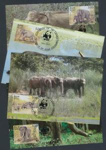 Sri Lanka stamp WWF Elephant 4 CM Cover 1986 Mi 753-756 WS163046