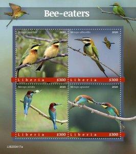 YEAR 2020/10- LIBERIA- BIRDS         4V complet set    MNH ** T