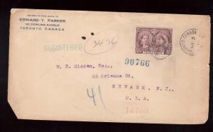 Canada #57 VF Used On Registered Cover To NJ USA
