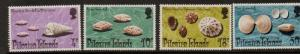 PITCAIRN ISLANDS SG147/50 1974 SHELLS MNH