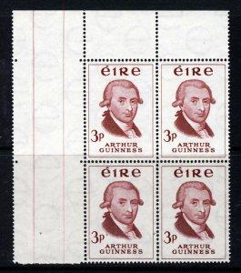 IRELAND 1959 Guiness Bicentenary 3d. Brown BLOCK OF FOUR SG 178 MNH