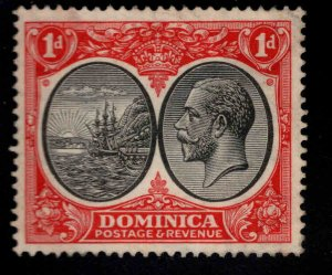 DOMINICA Scott 67 MH* Hinge Remnant stamp