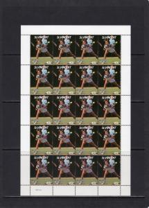 St.Vincent 1987 Sc#988/995 WIMBLEDON TENNIS CHAMPIONSHIPS 8 Sheetlets SPECIMEN