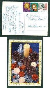 Denmark. Christmas Card 1981. 2 x Seal +130 Ore. Copenhagen. Christmas Deco.