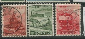 STAMP STATION PERTH Norway #331-333 General Issue 1954 FU