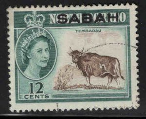 Malaysa Sabah overprint on North Borneo Scott 6 Used