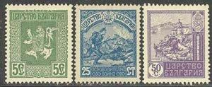 Bulgaria 1917 Macedonia Liberation set Sc# 122-27 NH