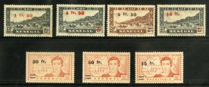 FRENCH WEST AFRICA 8-14 MNH MH SCV $19.70 BIN $8.50 BRIDGE, MAPS