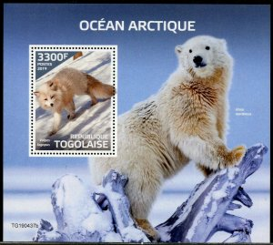 TOGO 2019  ARCTIC OCEAN  SOUVENIR SHEET MINT NEVER HINGED