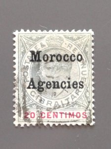 British Offices in Morocco (Spanish Currency) 22 F-VF Used - Scott $52.50