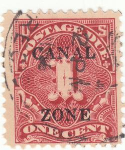 Canal Zone, Scott #J18 - 1c Carmine Rose - Used