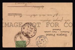 RR 1905 CHERUB ANGELS CURNUCOPIA postcard MAXI maxiumum CARD FROM URUGUAY
