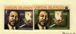 British  Virgin Islands #192-3 Martin Luther King issue MH