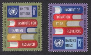 United Nations  New York  #192-193  1969  MNH  books and emblem