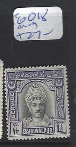 PAKISTAN BAHAWALPUR  (P2502B)  SG O18   MOG