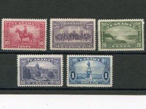 Canada #223-27  Mint  VFNH  -  Lakeshore Philatelics