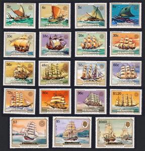 Penrhyn Sailing Craft and Ships 19v SG#337-355