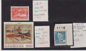 DANMARK STAMPS MINT& USED LOT#182