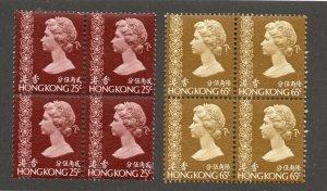 Hong Kong - SG# 286 & 290 MNH / Blocks of (4) / Keys to set - Lot 0619183
