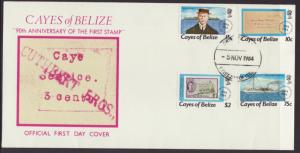 Cayes of Belize 18-21 U/A FDC